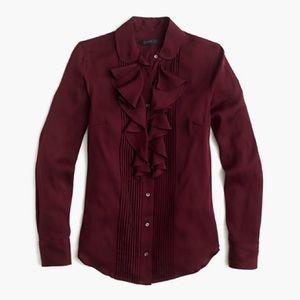 J. Crew stretch silk georgette blouse